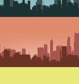 Three coloured contours of city vector