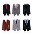 Set of 6 handsome business suit vector