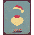 Retro vintage minimal merry christmas background vector