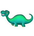 Cute brontosaurus cartoon vector
