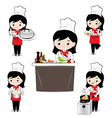 Little girl chef vector