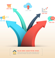 Arrow with icons for business concept vector