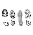 4 bootprints vector