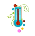 Medical thermometer sign isolated vector