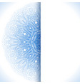 Blue winter round lace background vector