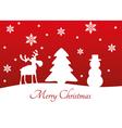 Christmas tree reindeer snowman vector