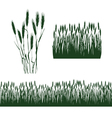Silhouettes of spikelets vector