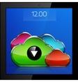 Mobile cloud connection application concept vector