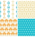 Four abstract blue yellow berry shapes seamless vector