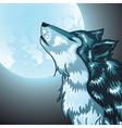 Howling wolf head vector