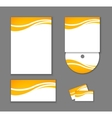 Corporate identity elements isolated vector