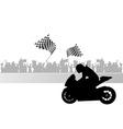 Motorcycle race vector