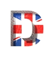 Great britain cutted figure d paste to any vector