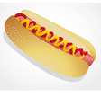 A hot dog isolated on a white background vector