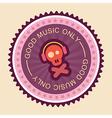 Good music label vector