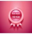 Pink glossy badge vector