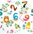 Numbers like birds seamless pattern vector