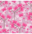 Seamless tropical pattern with stylized orchid vector