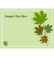 Leaves and nature card vector