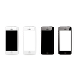 Black and white smart phones vector