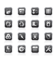 Server side computer icons vector