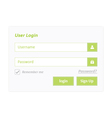 User login 7 vector