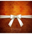 Background with white bow vector