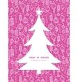 Holiday lanterns line art christmas tree vector
