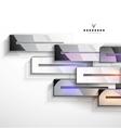 3d geometrical design metal stripes vector