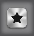 Star icon - metal app button vector
