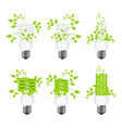 Set power saving lamps vector