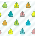 Seamless pattern with colorful boats vector