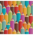 Seamless pattern with colored pencils in retro vector
