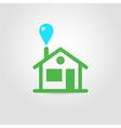 Eco house icon 01 vector