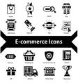 E-commerce icons black vector