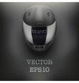 Background of gray motorcycle helmet vector