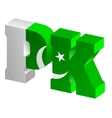 Internet top-level domain of pakistan vector