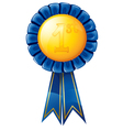 First place award ribbon vector