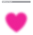 Halftone heart vector
