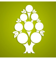 Abstract white tree made of paper vector