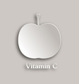 Apple paper style vector