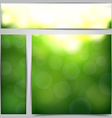 Set of blurry green vibrant banners vector