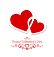 Abstract card for valentines day with two hearts vector