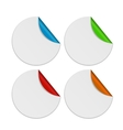 Set of white paper stickers isolated on background vector