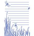 Dragonfly notepad vector