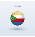 Comoros round flag vector
