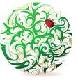 Forest ladybug vector