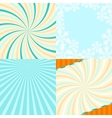Set of 4 retro lines abstract background with vector