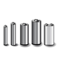 Five batteries vector
