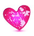 Pink grunge heart logo vector